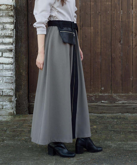 SRIC ★ asymmetry zip skirt