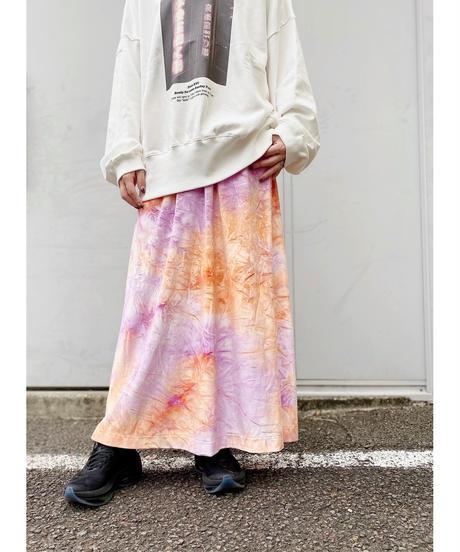 CHIGNONSTAR ★ tie dye velours skirt
