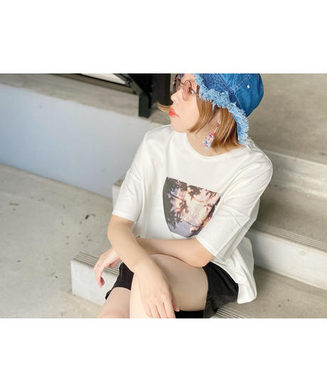 mink chair ★ photo print T-shirt / jeunegge