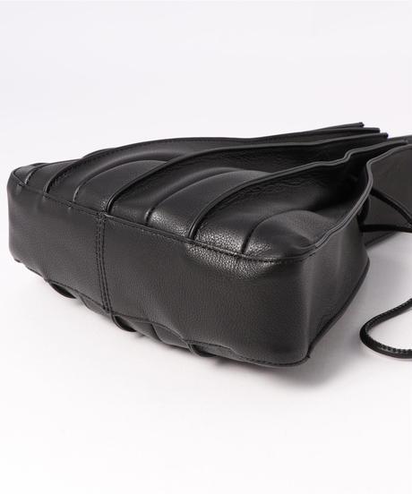 【B-20314】BEAURE ヴュレ カウレザー アコーディオン プリーツ ショルダー バッグ