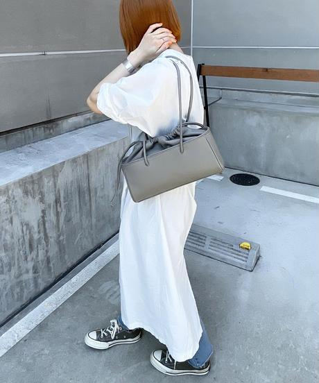 【B-21144】BEAURE ヴュレ カウレザー 巾着 ミニボストン