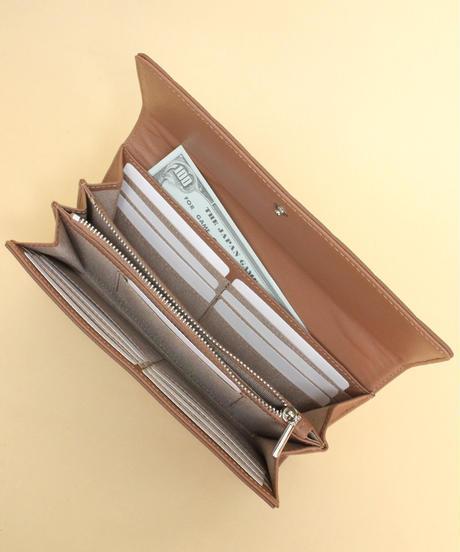 【B-20153】BEAURE ヴュレ カウレザー タイル 型押し 長財布