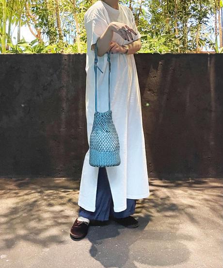 【B-20289】BEAURE ヴュレ カウレザー メッシュ 巾着 ショルダー