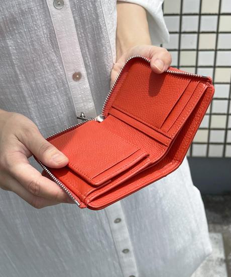 【QZ-350】BEAURE ヴュレ カウレザー 二つ折り L字ファスナー 財布