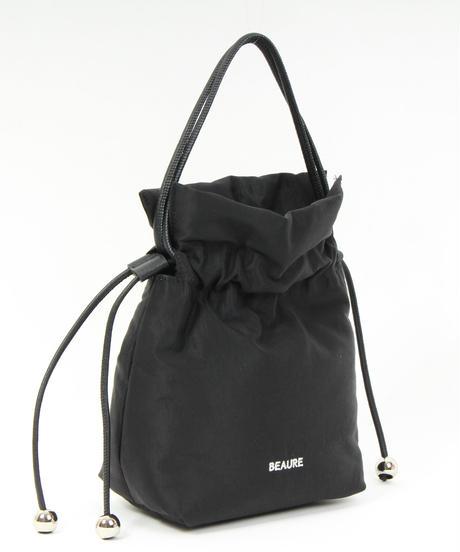 【B-21432】BEAURE カウレザー ボンディング 軽量 巾着 ショルダーバッグ