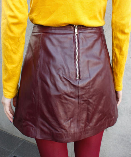 【migration】Lamb leather mini  skirt / レザーミニスカート