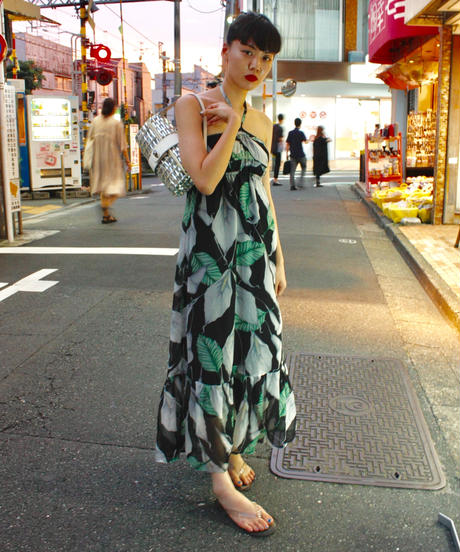 【Used 】Halter neck flower one piece/ホルターネック花柄ワンピース