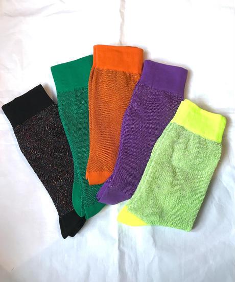 【Selected item】Glitter color socks /ラメカラーソックス/mg380