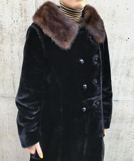 【Vintage】Fur long coat / ファーコート