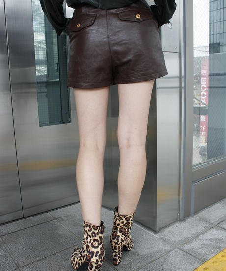 【Selected item】Python & Leopard short boots / レオパード パイソン柄ショートブーツ