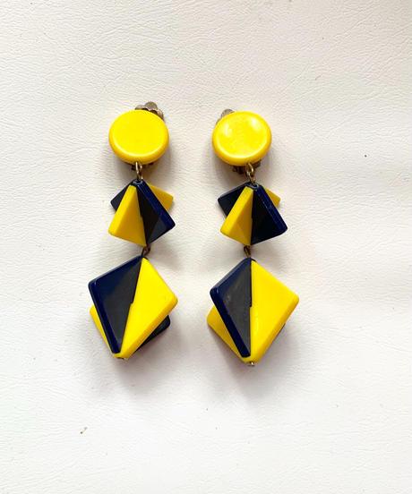 【Used】Rhombus design earring / ひし形デザインイヤリング
