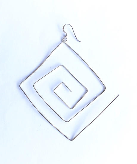 【Selected item】Square wire silver pierce / スクエアワイヤーシルバーピアス