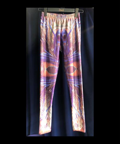 【Used Item】Peacock Print Leggings Pants / クジャクレギンスパンツ