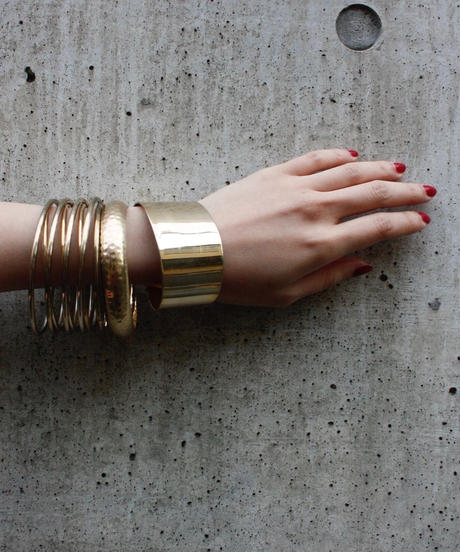 【Vintage】Gold thick bangle / ゴールド太バングル