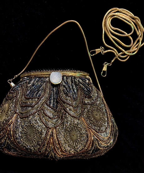 【Used】Gold beads 2way hand bag / ゴールドビーズ2WAYバッグ