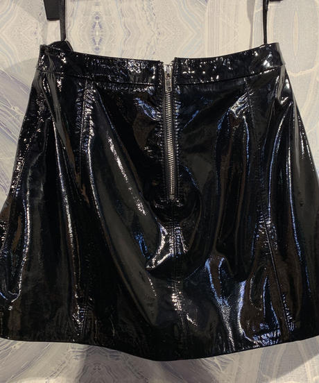 【migration】Sheep skin leather enamel skirt /mg-166 / 羊革エナメルミニスカート
