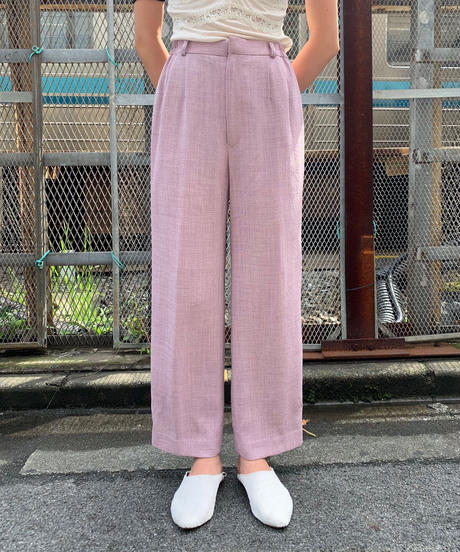 【Used】Double tuck pants / ダブルタックパンツ