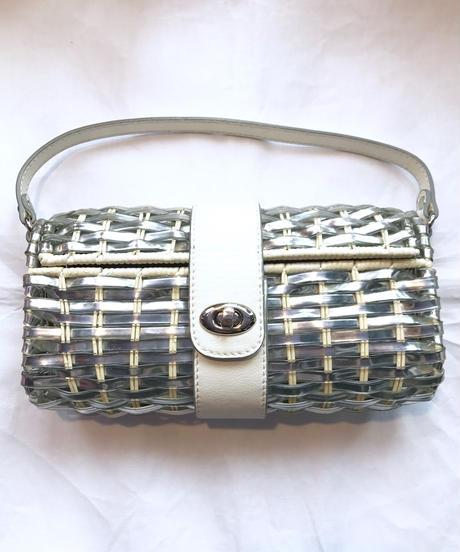 【Used】PVC braid hand bag / ビニール編み込みハンドバッグ