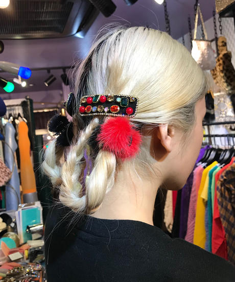 【Selected Item】 Pom pom hair clip / ポンポンヘアクリップ