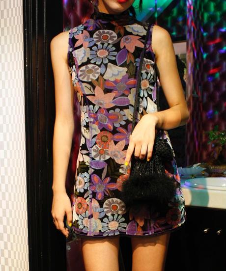 【Used】Flower pattern sleeveless one-piece / 花柄ノースリーブワンピース