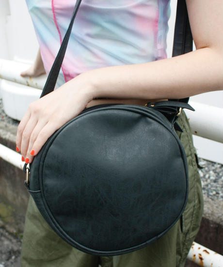 【Used】Leather circle shoulder bag / レザーサークルショルダーバッグ