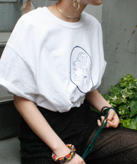 【bed】Original T Shirt  (Lady)/ white