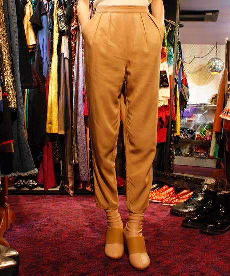 【Used Item】two-tuck beige slacks / ツータックベージュスラックス