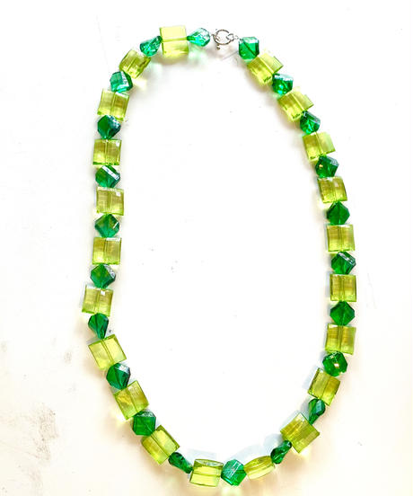 【Used】Clear color necklace / クリアカラーグリーンネックレス