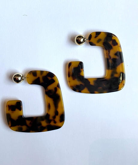【Selected item】Tortoiseshell pierce / べっ甲ピアス