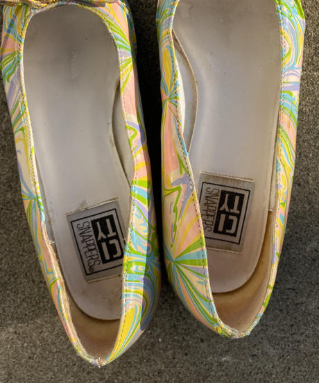 【Vintage】Pastel color marble pumps / パステルカラーパンプス