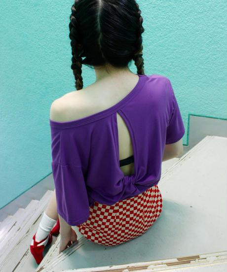 【migration】Back design T shirts / 背中デザインTシャツ/mg-238