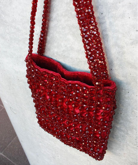【Used】Velours beads bag / ベロアビーズバッグ