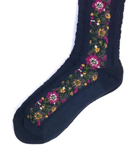 【Selected Item】Flower line socks / フラワーラインソックス