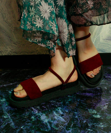 【Selected item】2way Sandal / Bordeaux