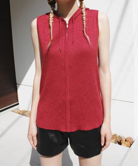 【Used】Glitter knit zip parka / ラメ入りジップニットパーカー