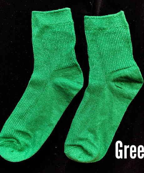 【selected item】Glitter color socks / ラメソックス / mg257