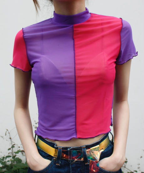 【migration】Two tone color tops/ ツートンカラートップス/mg337