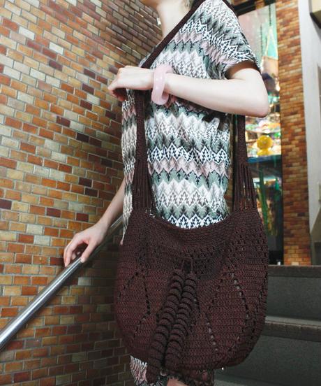 【Used】Knit shoulder bag / 編みショルダーバック