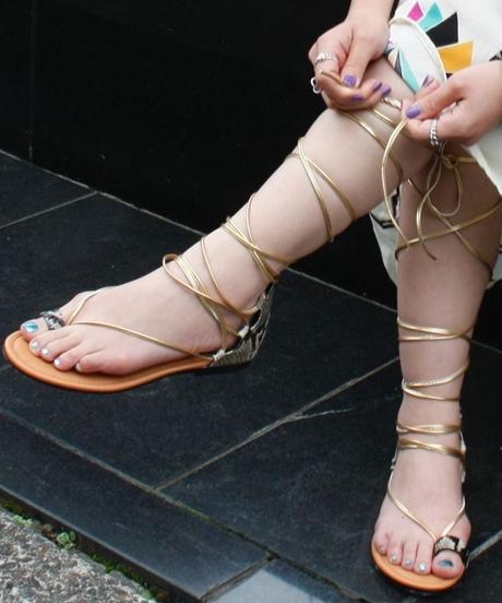 【import 】Lace up python patten sandal / レースアップパイソン柄サンダル / mg-314