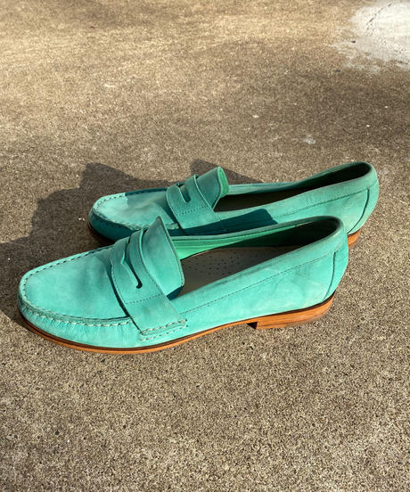 "【Used】""COLE HAAN"" Suède loafer""Mint green"" / スエードローファー"