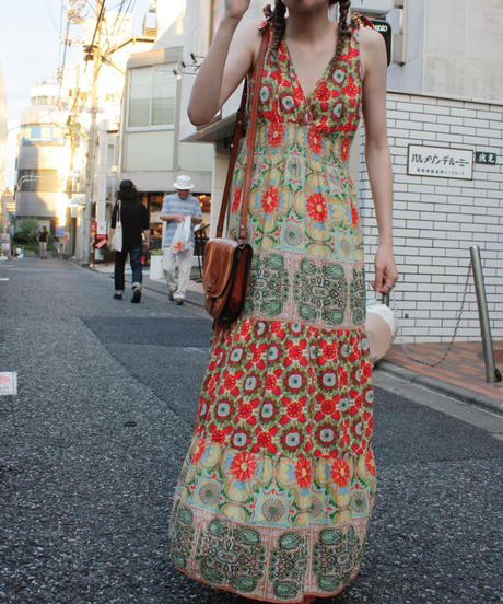【Used 】Flower maxi length dress / 花柄マキシ丈ワンピース