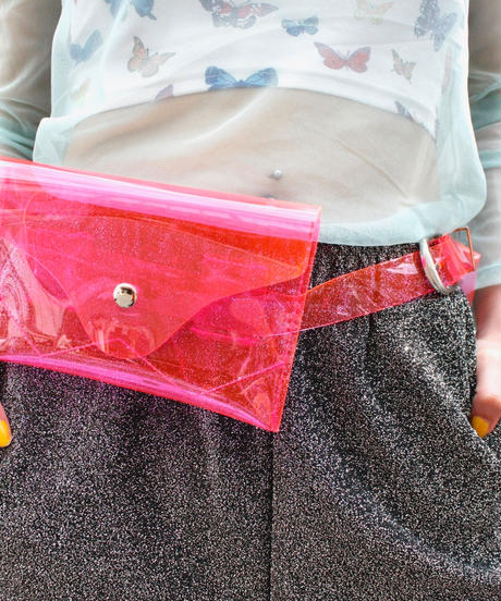 【Selected Item】Clear pvc waist pouch / クリアpvcウエストポーチ / mg214