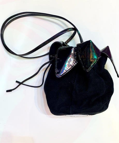 "【Used】""CHARLES JOURDAN"" Drawstring bag / 巾着デザインバッグ"
