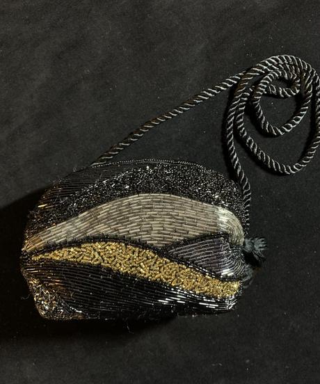 【Vintage】 Black beads shoulder bag / 総ビーズショルダーバッグ