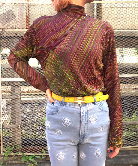 【Used】Colorful high neck tops / カラフルハイネックトップス