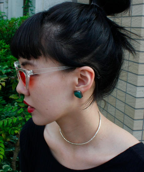 【Selected item】Silver 925 stone pierce / シルバー石ピアス
