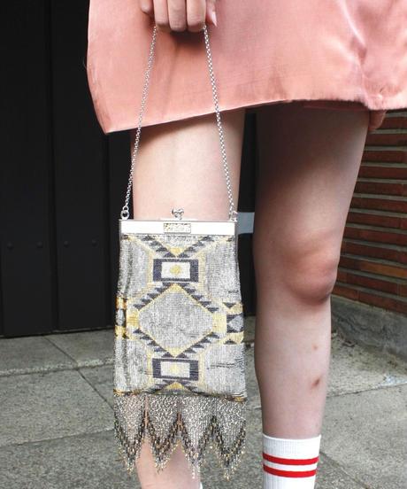 【Vintage】Nordic  pattern hand bag/ノルディック柄ハンドバッグ