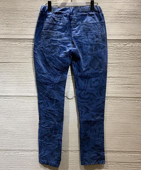 ◆NEW◆パイソンプリントイージーパンツ【ブルー】