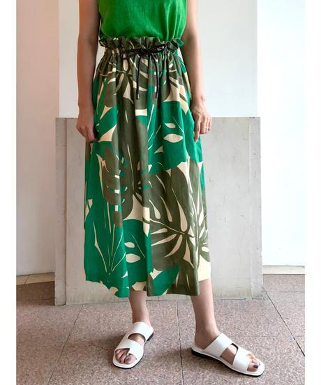 [BEATING HEART]リーフプリントスカート