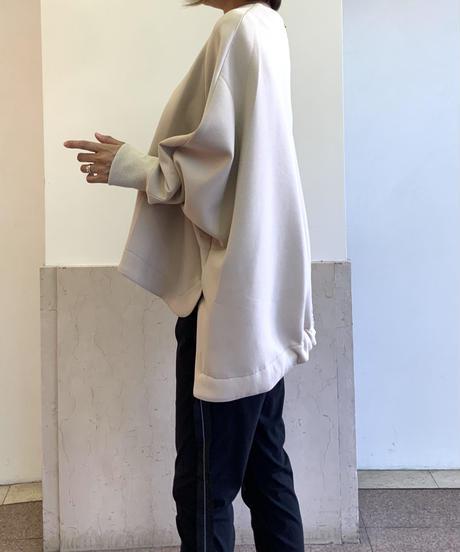 ◆NEW◆[Lallia Mu]フレアポンチプルオーバー【クレイグレー】